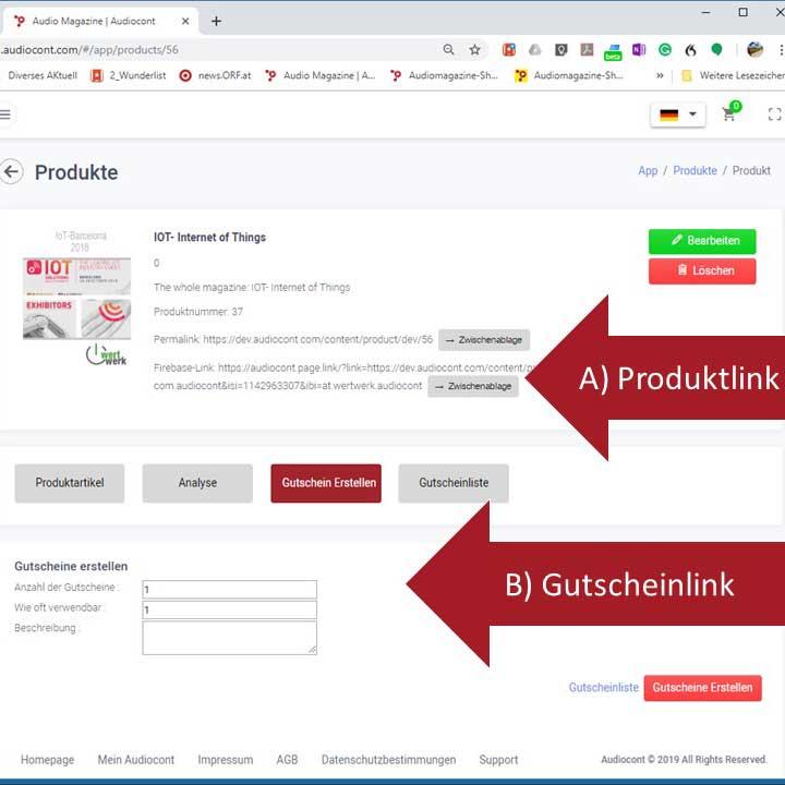 Artikelbild - Gutscheinlink Produkte Audiocont