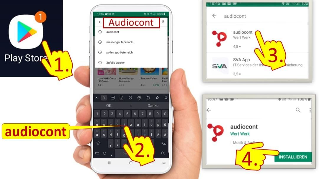 Audiocont App in Android Playstore