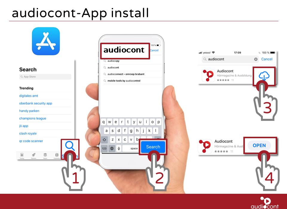 Audiocont App auf iOS Installieren